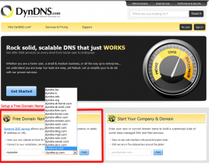 DynDns-website